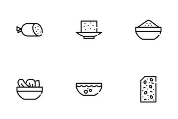 Vegan Menu Restaurant Icon Pack