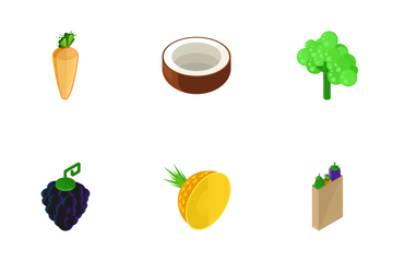 Vegetable And Fruits  Icon Pack