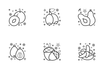 Vegetables And Fruits Icon Pack