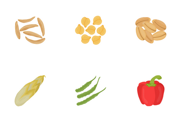 Vegetables Flat Icons Icon Pack