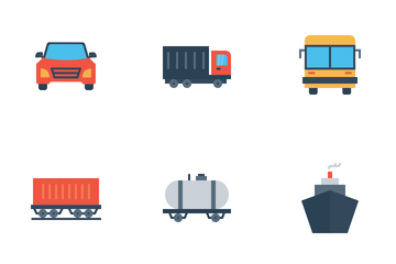Vehicle And Transport Icon Pack