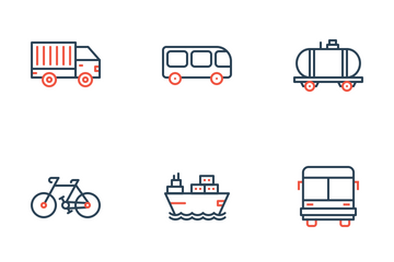 Vehicle And Transportation  Icon Pack