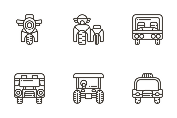 Vehicle Front View Icon Pack