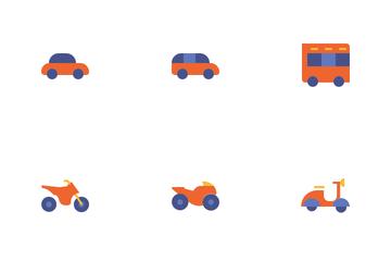 Vehicle & Transportation Icon Pack