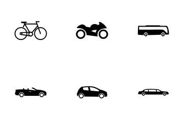 Vehicle Types Icon Pack