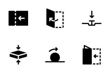 Verbs And Arrows Icon Pack