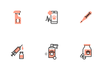 Veterinary Flat Outline - Fluffy Pet Icon Pack