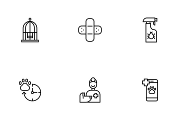Veterinary Line - Fluffy Pet Icon Pack