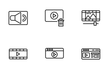 Video And Audio Icon Pack