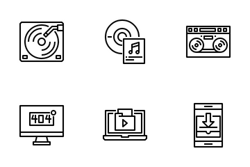 Video And Audio Element Icon Pack