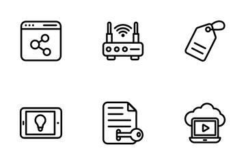 Video Blogging And Copywriting Icon Pack