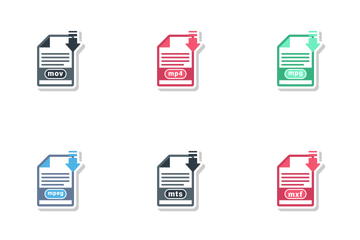 Video File Formats Icon Pack