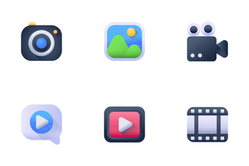 Video Marketing And Production Icon Pack