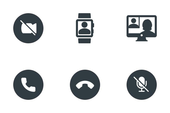 Video Meeting Icon Pack