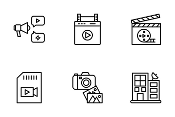 Video Shoot & Production Icon Pack