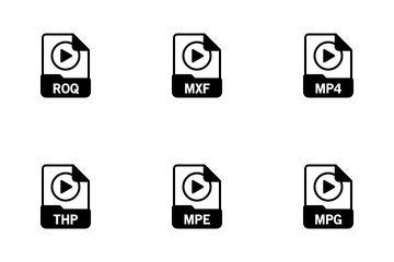 Videos File Format Icon Pack