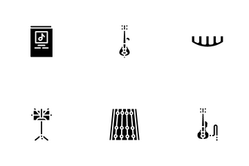 Violin String Musical Instrument Icon Pack
