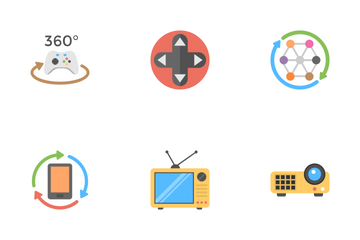 Virtual Reality And Drones Flat Icons  Icon Pack