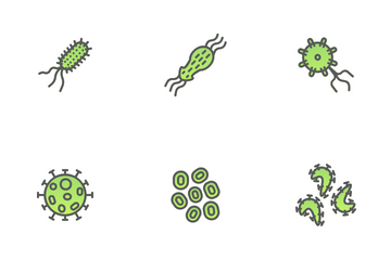 Virus And Bacteria Icon Pack