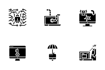 Virus And Hacker Icon Pack