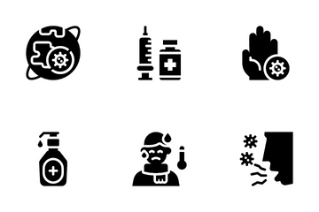 Virus Transmission Icon Pack