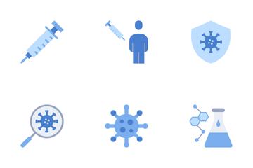 Virus Vaccine Development Process Icon Pack