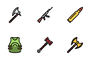 War Colored Icon Pack