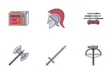 War Filled Outline  Icon Pack