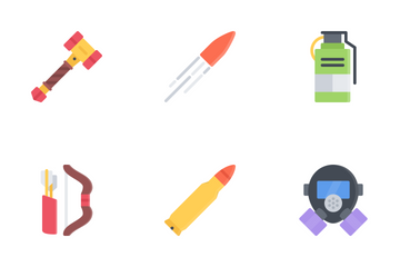 War Flat Icon Pack