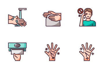 Washing Hand Icon Pack