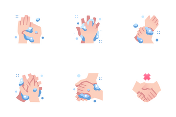 Washing Hands Icon Pack
