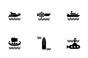 Water Transportation Icon Pack