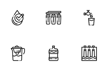Water Treatment Icon Pack