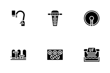 Water Treatment Filter Icon Pack