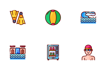 Waterpark Things Icon Pack