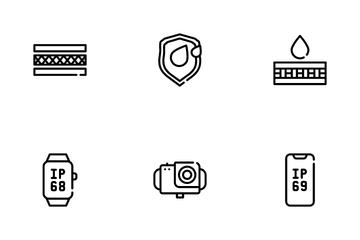 Waterproof Material Icon Pack