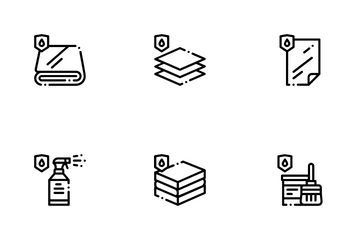 Waterproof Materials Icon Pack