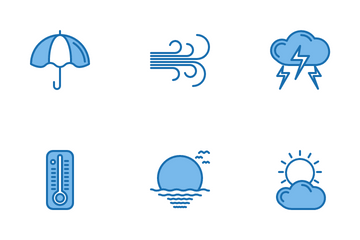Weather Blue Icon Pack
