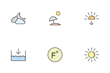 Weather Filled Outline Icon Pack