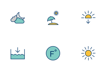 Weather Filled Two Color Icon Pack