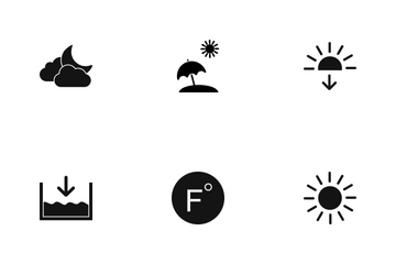 Weather Glyph Icon Pack