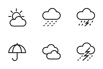 Weather Line Icons Icon Pack