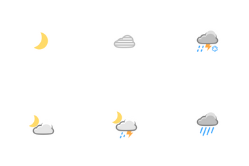 Weather Night Time Icons Icon Pack