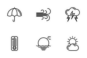 Weather Outline Icon Pack