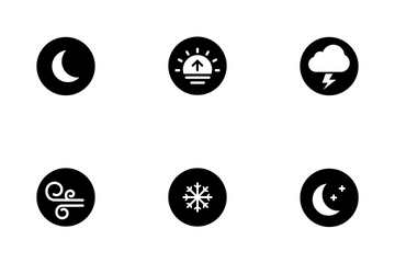 Weather Rounded Solid Icon Pack