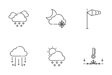 Weather Set - Mono Icon Pack