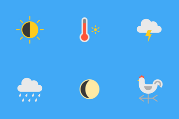 Weather Status (flat) Icon Pack