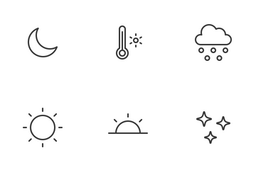 Weather Status (line) Icon Pack