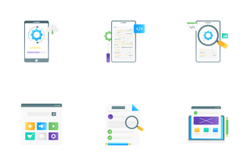 Web And Mobile App Design & Development Icon Pack