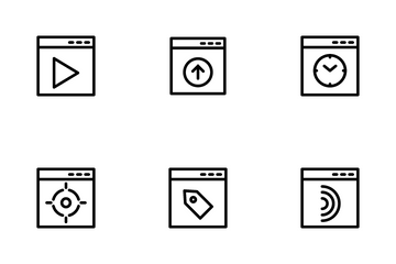 Web Design And Coding Icon Pack